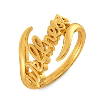 Wellness Vibes Gold Rings
