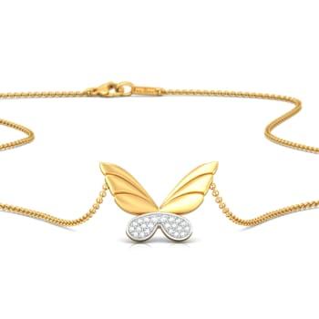 Dreams in Wings Diamond Necklaces