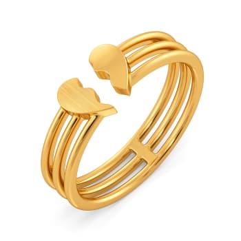 Carre Ardor Gold Rings