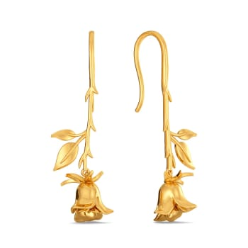 Dark Damask Gold Earrings