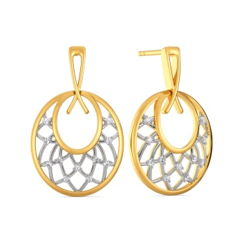 Two to Loops Diamond Earrings