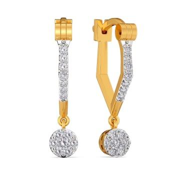 Whirl Wound Diamond Earrings