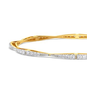Sparkling Waves  Diamond Bangles
