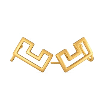 The Social Chain Gold Earrings