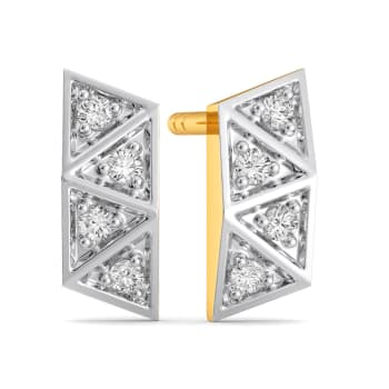 Trinity Checks Diamond Earrings