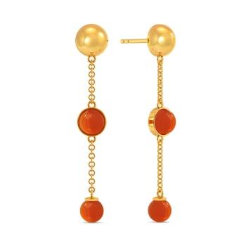 Coral Care Gemstone Earrings
