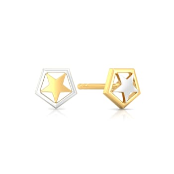Sky Gazer Gold Earrings