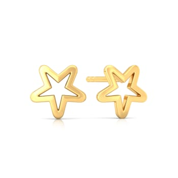 Galactika Gold Earrings