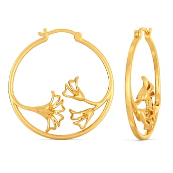 Lily of the Night Gold Earrings