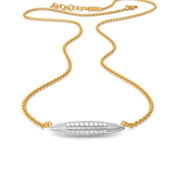 Oval Overlay Diamond Necklaces