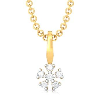 Itsy Bitsy Florals Diamond Pendants