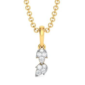 Leaf Belief Diamond Pendants