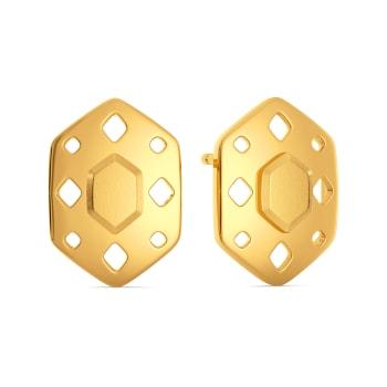 Fiery Fashion Gold Earrings