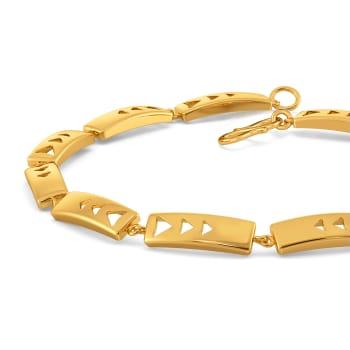 Eccentric Tracks Gold Bracelets