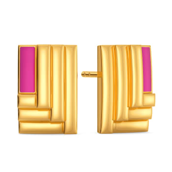 Rave O Pink Gold Earrings