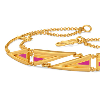 Top to Fuchsia Gold Bracelets