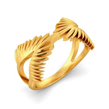 Feather Feels Gold Rings