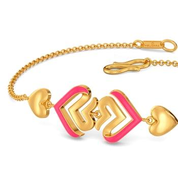Amour Neon Gold Bracelets
