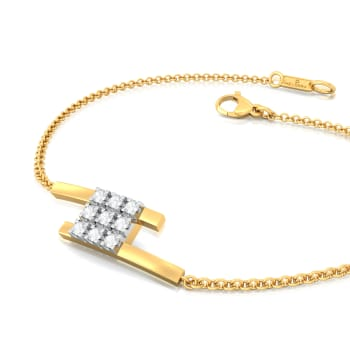 Mistress of Squares Diamond Bracelets