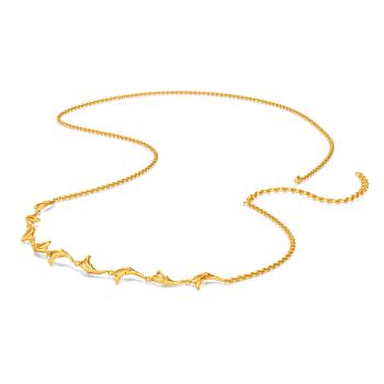 Floral Demure Gold Waist Chains