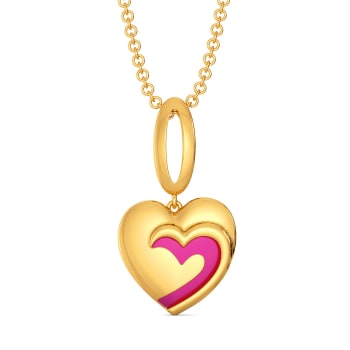 Fuchsian Love Gold Pendants
