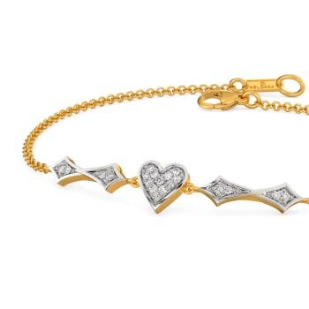 Heart Décor Diamond Bracelets