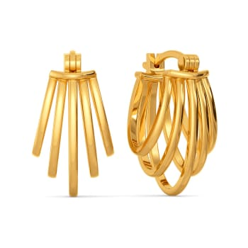 Arty Accents Gold Earrings