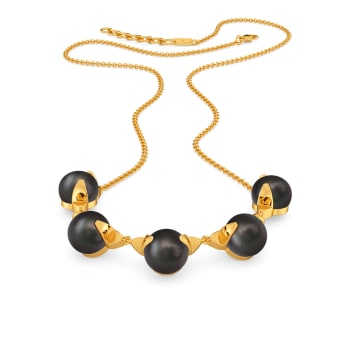 Effortlessly Ebony Gemstone Necklaces