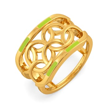 Neon Buzz Gold Rings