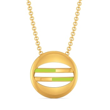 Lime Limerick Gold Pendants