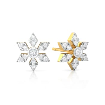 Crochet Cluster Diamond Earrings
