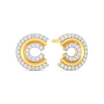 C Crease Diamond Earrings