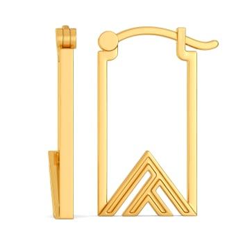 Short Styled Gold Earrings