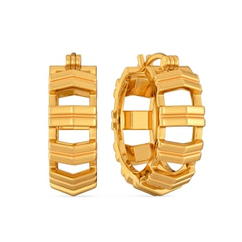 Chic O Strong Gold Earrings
