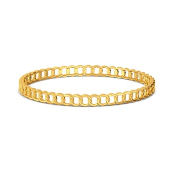 Chain Domain Gold Bangles