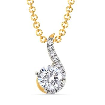 Twinkle Twirls Diamond Pendants