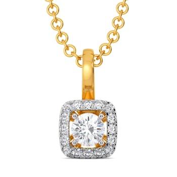 Four Squared Diamond Pendants