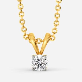 Glossy Guide Diamond Pendants