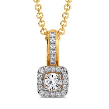 Square N Shine Diamond Pendants