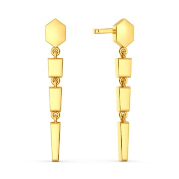 Dagger Collar Gold Earrings
