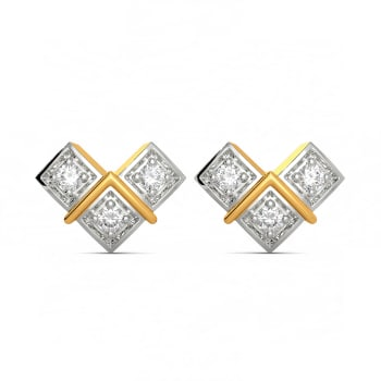 Trey Tide Diamond Earrings