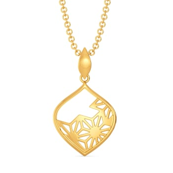 Bold Lace Gold Pendants