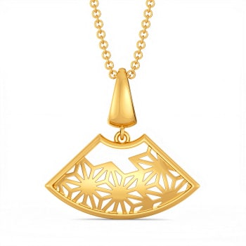 Lace It Up Gold Pendants