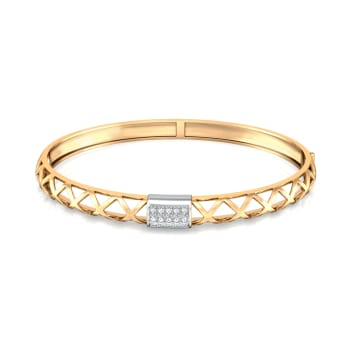 Golden Weave Diamond Bangles