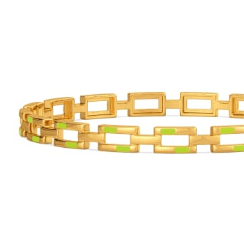 Neon Nuance Gold Bangles