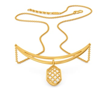 Playfully Tulle Gold Necklaces