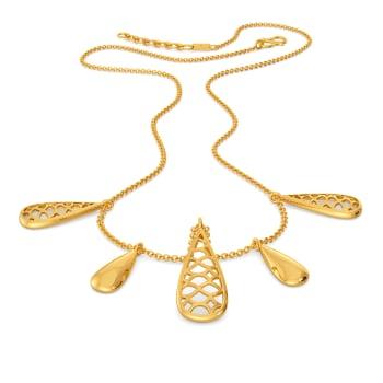 Bubble Up Gold Necklaces