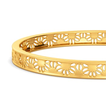 Bold Lace Gold Bangles