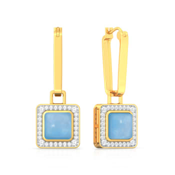 Arctic Blues Diamond Earrings