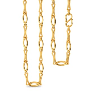 Fractal Finesse Gold Chains